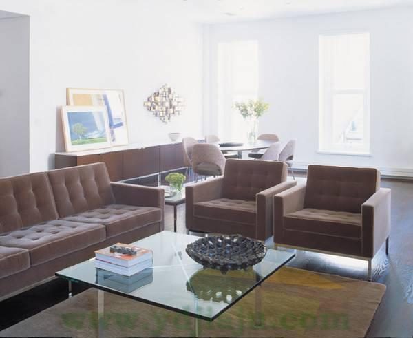 【不锈钢办公家具】诺尔沙发 Florence Knoll Sofa 场景2