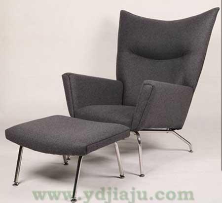 欧式简约风格家具---高背翼椅
