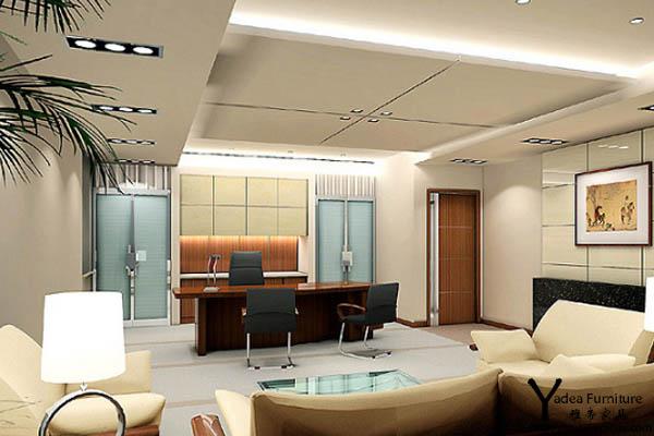 总经理办公室效果图  员工工作的效率跟办公环境有关系,现代办公家具