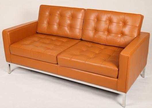 高级不锈钢管和高级真皮沙发垫