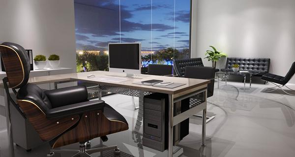 雅帝家具公司经理办公室设计效果图1