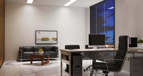 雅帝家具公司经理办公室设计效果图2
