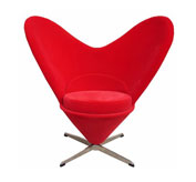 【雅帝家具】心型椅子(Verner Panton Heart Shaped Cone Chair)
