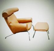 [真皮休闲椅]OX Lounge Chair with Ottoman(公牛椅)