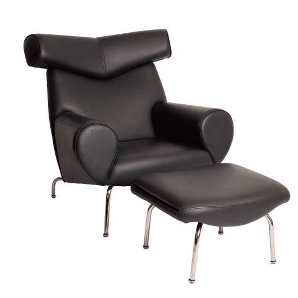 [真皮休闲椅]OX Lounge Chair with Ottoman(公牛椅)
