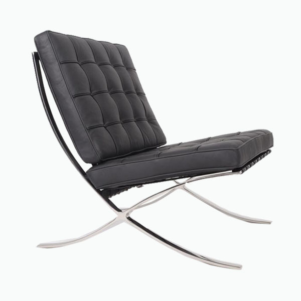 意皮巴塞罗那椅(Barcelona Chair In Italian Leather)