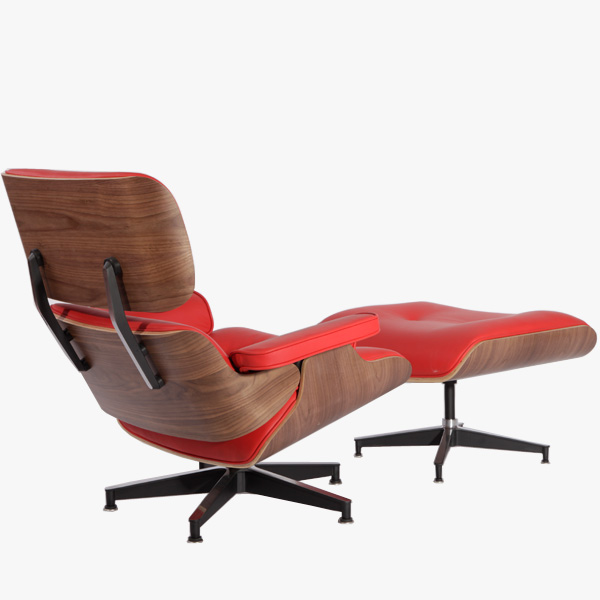 红色伊姆斯休闲椅(Eames Lounge Chair In Red Leather)